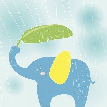 El elefante y la lluvia