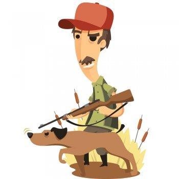 Un cazador y un perro