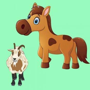 El caballo y la cabra