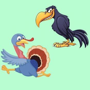 El cuervo y el pavo