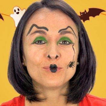 Maquillaje de Bruja para disfrazar a los niños