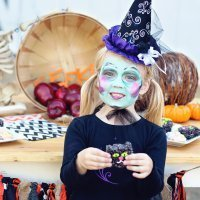 Maquillajes de Halloween para niños, paso a paso