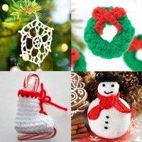 12 ideas de adornos navideños en crochet