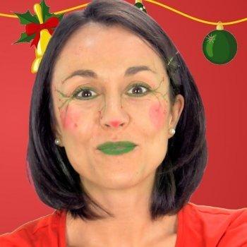 Maquillaje de elfo navideño