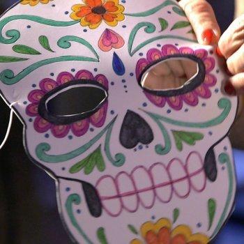 Máscara de Catrina para Halloween. Manualidad infantil