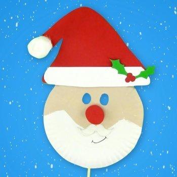Máscara de Papá Noel. Manualidades de Navidad para niños