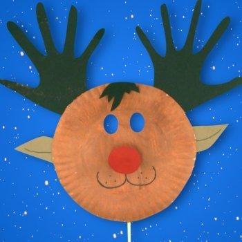Máscara de reno. Disfraces navideños para niños