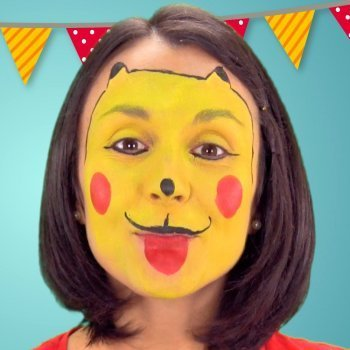Maquillaje de Pikachu para niños