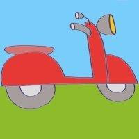 Cómo hacer, paso a paso, un dibujo de una moto