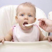 Los bebés y sus primeras cucharadas de comida