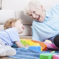 El amor de un nieto por su abuela