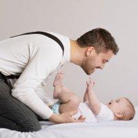 La primera vez que el bebé dice papá