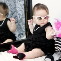 La nueva moda de los zapatos de tacón para bebés