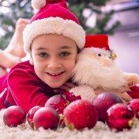 Las huellas de Papá Noel en los niños