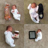 Cómo crece un bebé prematuro comparado con objetos cotidianos