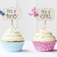 Tarta o cupcake sorpresa para conocer el sexo del bebé