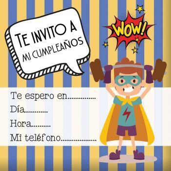Invitaciones de superhéroes