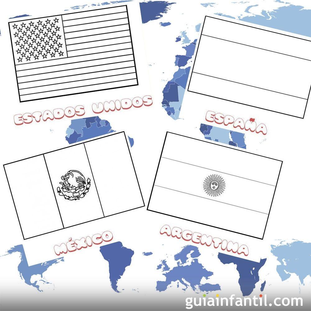Bandera de Mexico para colorear - pintarcolorear.org