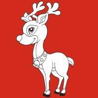 Dibujos infantiles de renos para imprimir y colorear