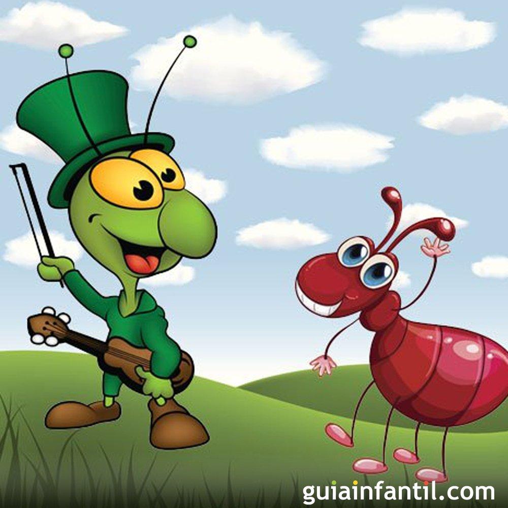 La cigarra y la hormiga f bula de la fontaine f bulas - Dibujos infantiles de bebes ...