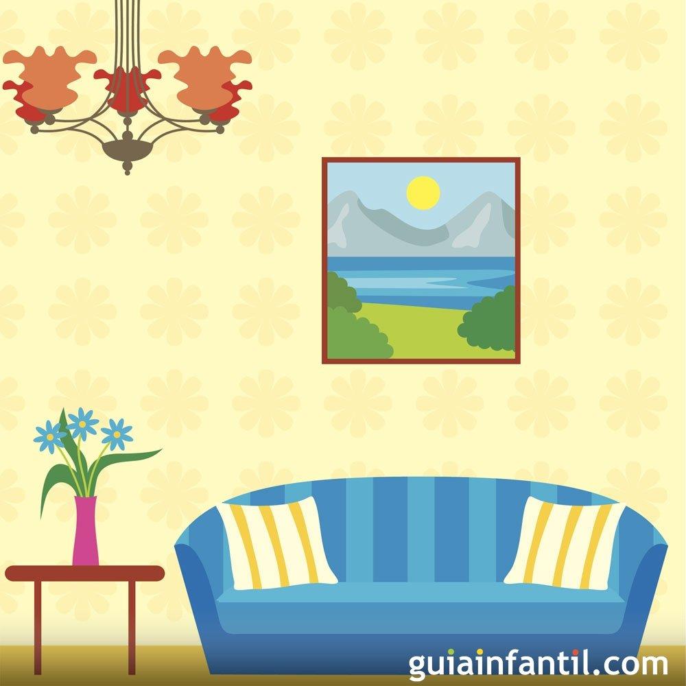 Dibujos para colorear de objetos del sal n for 10 objetos del salon en ingles