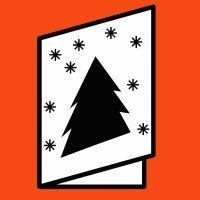 Postales de Navidad para imprimir con dibujos para colorear