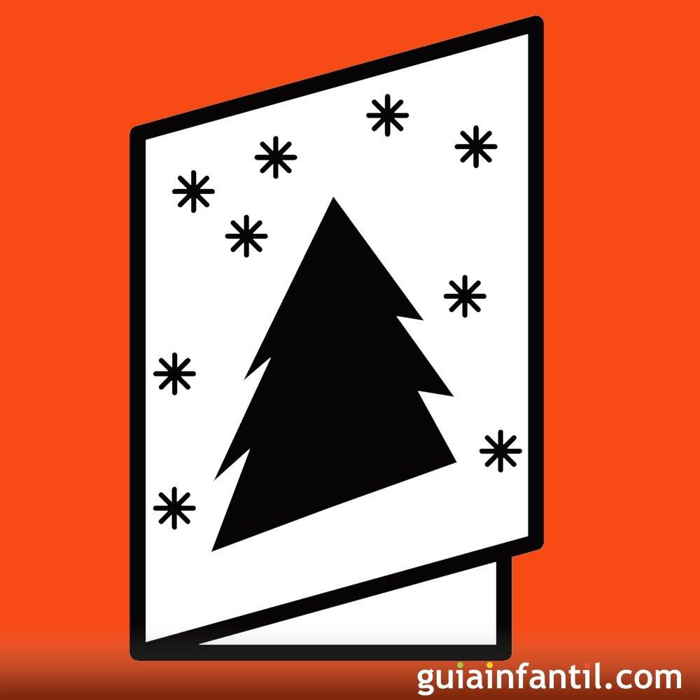 Postales de navidad para imprimir con dibujos para colorear - Dibujos tarjetas navidenas ...