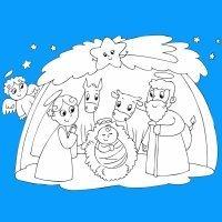 Dibujos para recortar del Belén de Navidad