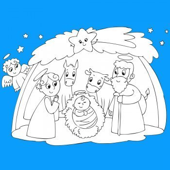 Dibujos para recortar y montar un Belén de Navidad