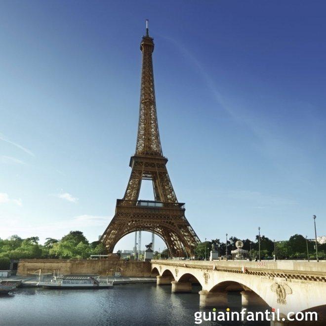 Viajar con los niños. Fotos de París
