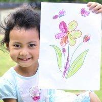 Dibujos de flores para colorear con los niños