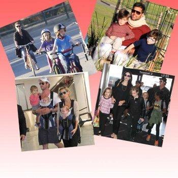 Mamás y papás famosos con hijos gemelos