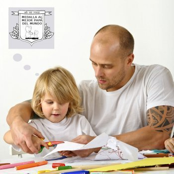 Medallas Día del Padre. Dibujos para colorear con niños
