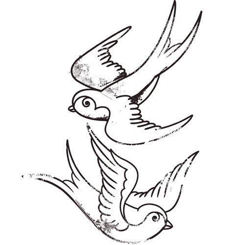 Como dibujar golondrinas - Imagui
