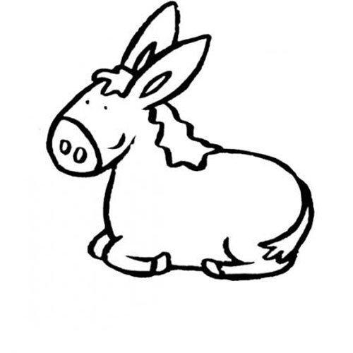 Dibujos de una mula para colorear - Imagui