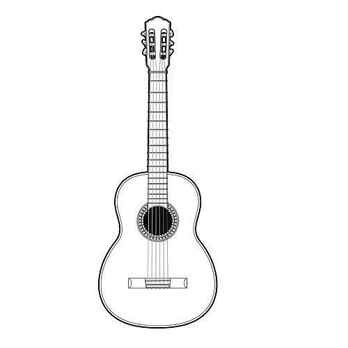 Imagenes De Guitarras Para Colorear