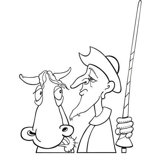 Adivinanza: Con su caballo y con su escudero
