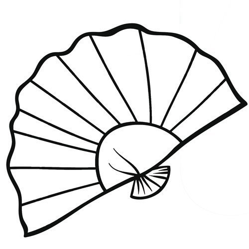 Dibujos para colorear de un abanico - Imagui