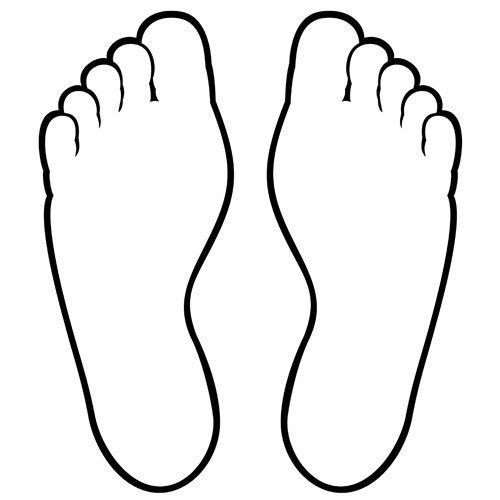 Huellas de pies humanos para colorear - Imagui
