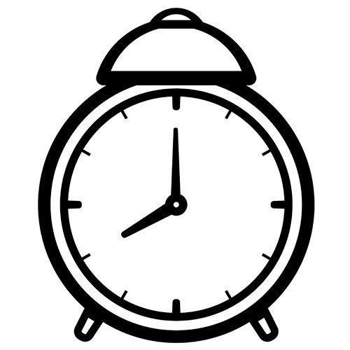 Reloj para colorear con manecillas - Imagui