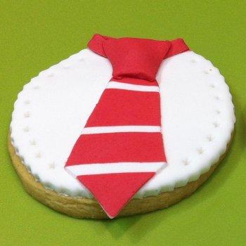 Galleta con forma de corbata
