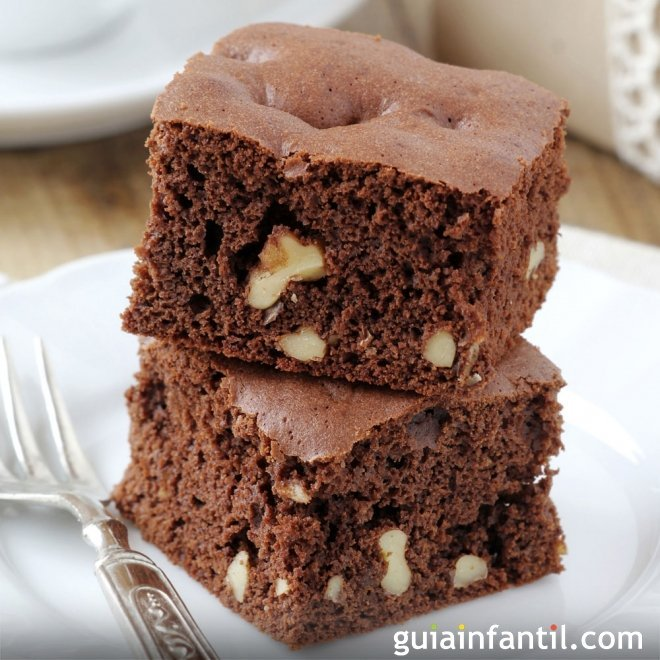 Brownies sin gluten. Postres para niños