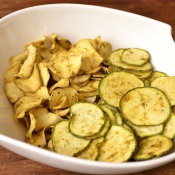 Chips de calabacín y batata