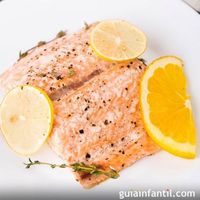 Salm n al microondas para ni os recetas r pidas y f ciles - Cocinar pescado en microondas ...