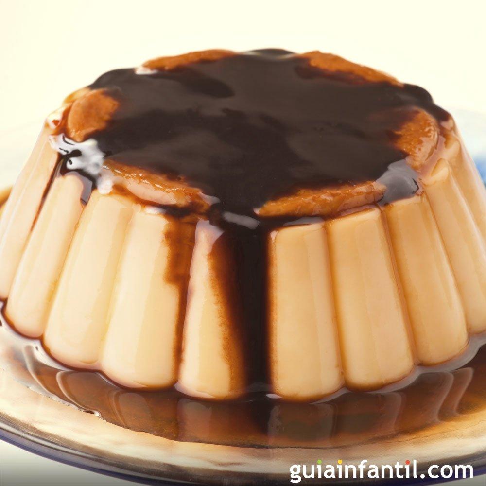 Flan de mandarina con chocolate para ni os - Postre con mandarinas ...