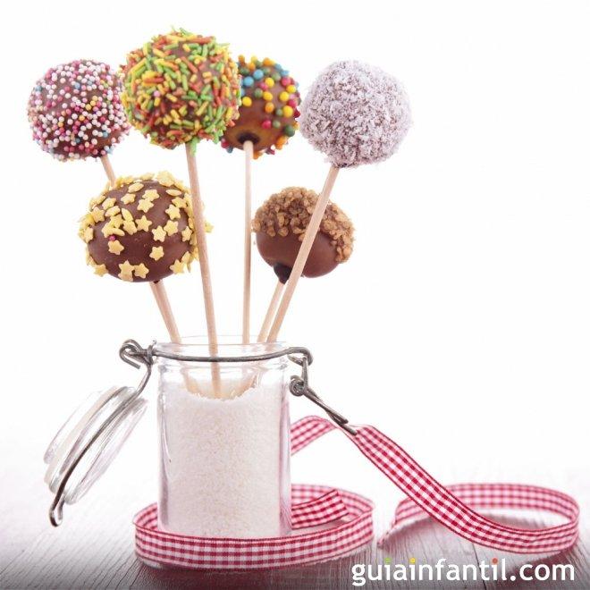 Cake pops. Receta para hacer cake pops para los niños