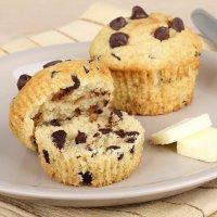 Muffins con pepitas de chocolate para niños