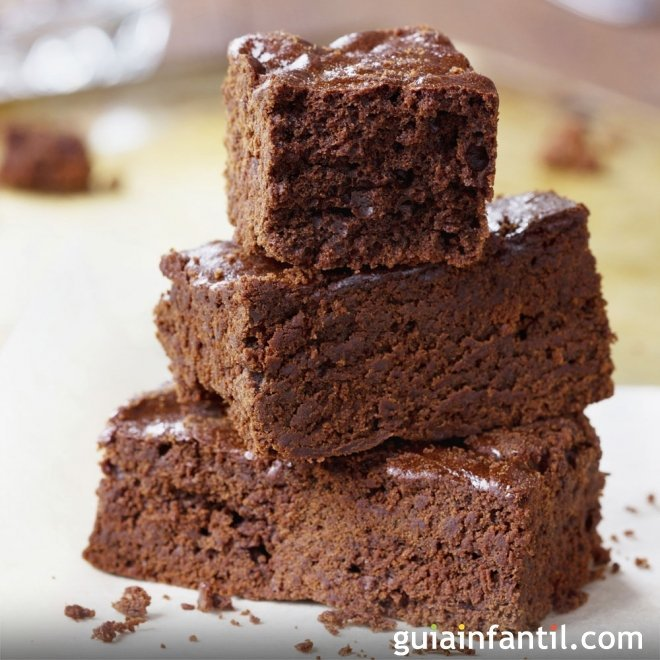 Receta de brownie con margarina para niños