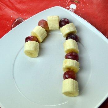 Bastón de caramelo hecho con frutas