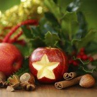 Postres con frutas para niños en Navidad